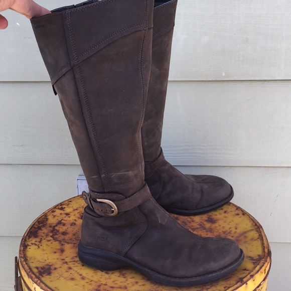Brown Leather Merrell Tall Boots